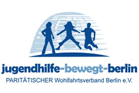 Logo Jugendhilfe-bewegt-berlin, paritätischer Wohlfahrtsverband Berlin e.V.